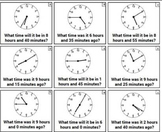 Differentiated Elapsed Time Clocks Review Practice Task Cards Exit Tickets CCSS