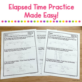 Differentiated Elapsed Time Printable