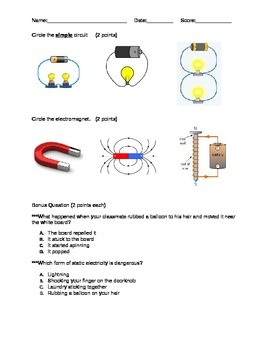 Differentiated Electricity and Magnetism Test-Part 2