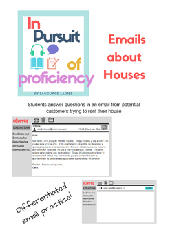 Reading and Writing: novice and intermediate Emails about Houses (la casa)