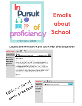 Novice and Intermediate Emails about School (la escuela)