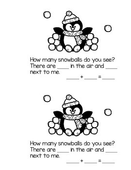 Differentiated Emergent Readers - I Can Touch and Count Snowballs