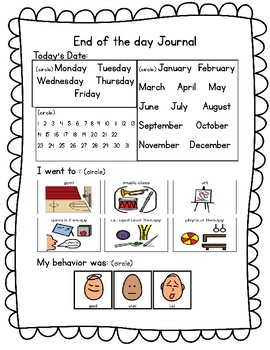 Differentiated End of the Day Journal