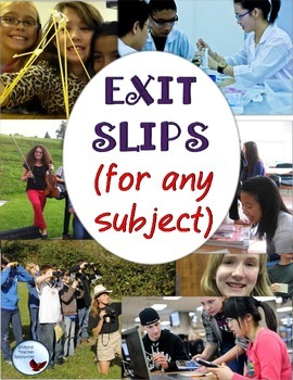 Exit Slips Ticket Outs For Any Subject