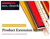 Differentiated Extension Menu for Visual & Performing Arts