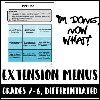 Differentiated Extension Menus