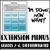 Differentiated Extension Menus