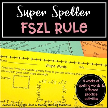 Differentiated FSZL RULE Phonics Based Spelling Word Lists (grades 3, 4, 5)