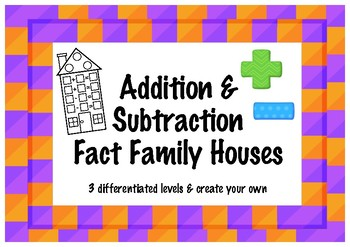 Differentiated Fact Families - addition & subtraction