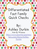Differentiated Fact Family Quick Checks