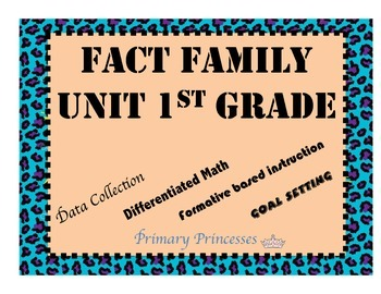 Common Core 1st grade Differentiated Assessment Based Fact Family Unit