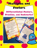 Differentiated Factors and Multiples Resources: posters, bookmarks, practice!