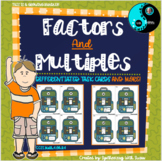 Differentiated Factors and Multiples Task Cards Growing Bundle
