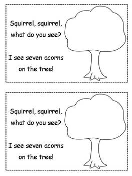 Differentiated Fall Acorn Emergent Readers