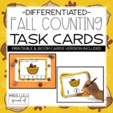 Fall Counting Task Cards