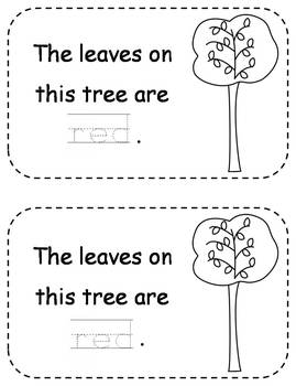 Differentiated Fall Leaves Emergent Readers