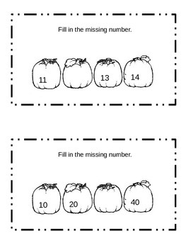 Differentiated Fall Math Journal