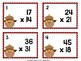Differentiated Fall Math Task Cards - Multiplication