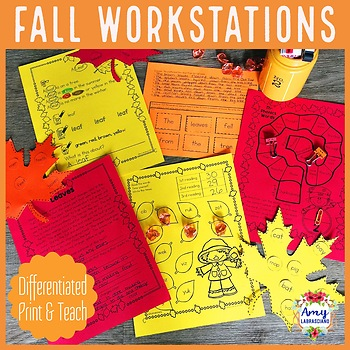 Differentiated Fall Reading Reading Centers