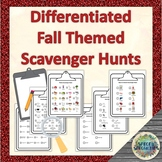 Differentiated Fall Themed Scavenger Hunts with Visual Supports