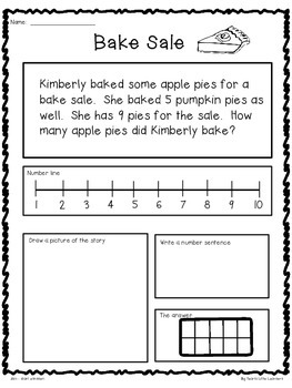 Differentiated Fall Word Problems for Primary Grades