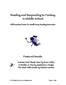 Differentiated Fantasy Unit Novel Study Bundle