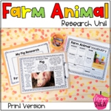 Differentiated Farm Animal Research Unit for Kindergarten or First Grade
