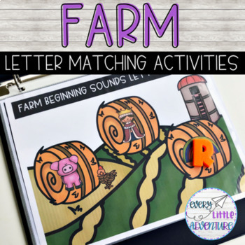 Differentiated Farm Letter Matching - Preschool