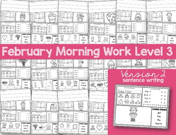 Special Education Morning Work: February Edition {Differentiated for 3 Levels!}