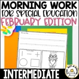 Intermediate Special Education Morning Work: February Edition {3 Levels!}