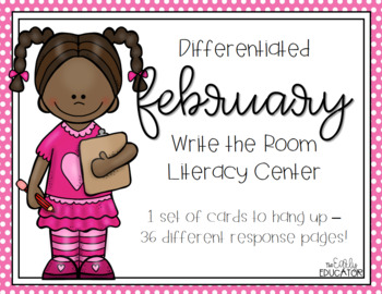 Differentiated February Write the Room Center