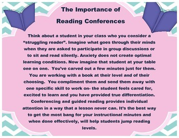 Differentiated Fiction Reading Comprehension: Reading Conference Organizers