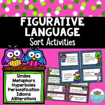 Differentiated Figurative Language Activities *Spring themed*