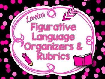 Figurative Language Differentiated Graphic Organizers CCSS RL.4