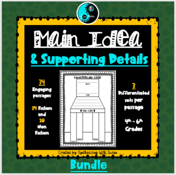 Differentiated Finding the Main Idea and Supporting Details Bundle