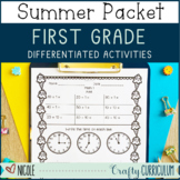Differentiated First Grade Summer Packet Over 100 Printables
