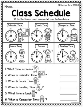 Attractive Differentiated First Grade Telling Time Worksheets