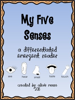 Differentiated Five Senses Emergent Reader