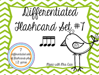 Differentiated Flashcard Set - Sixteenth Notes