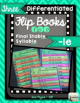 Differentiated Flip Books for Final Stable Syllable -le