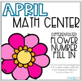 Differentiated Flower Missing Number Fill In Kindergarten April Math Center