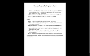 Differentiated Fluency Phrases for Classroom and Homework!  Levels 1-20