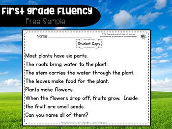 First Grade Fluency {April - June}