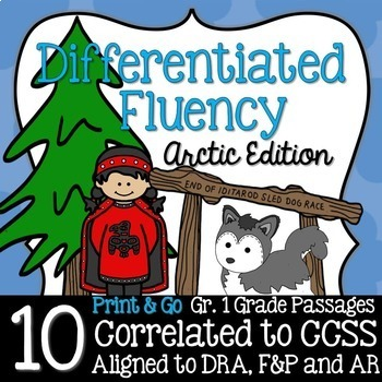 First Grade Fluency: ARCTIC EDITION