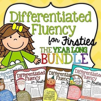 First Grade Fluency BUNDLE {August - June}