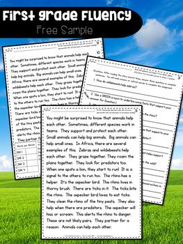 First Grade Fluency: Bridge The Gap {SPRING EDITION}