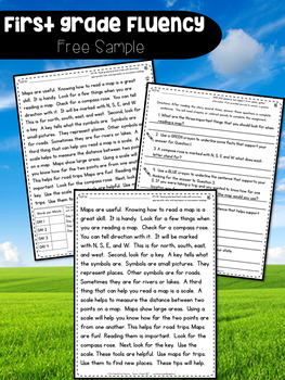 First Grade Fluency: Bridge The Gap {WINTER EDITION}