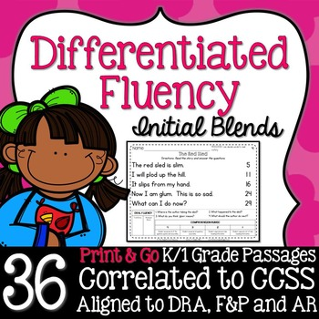 Kindergarten Fluency: Initial Blends Pack