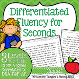 Second Grade Fluency: August Edition