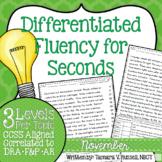 Second Grade Fluency: November Edition